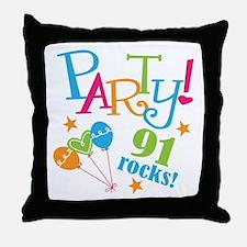 91st Birthday Party Throw Pillow