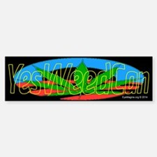 Yes Weed Cannabis Bumper Bumper Sticker
