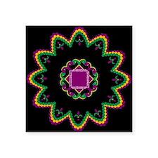 "Mardi Gras Beads Square Sticker 3"" x 3"""