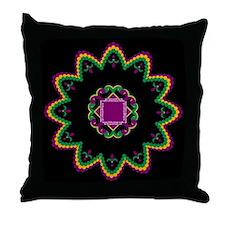 Mardi Gras Beads Throw Pillow
