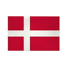 Denmark Flag Rectangle Magnet