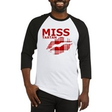 Miss Tartan Kiss Baseball Jersey