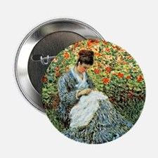 "Camille Monet and Child 2.25"" Button"