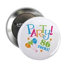 """86th Birthday Party 2.25"""" Button (10 pack)"""
