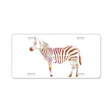The Colorful Zebra Aluminum License Plate