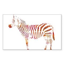 The Colorful Zebra Decal