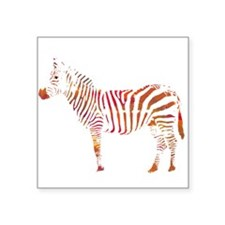 The Colorful Zebra Sticker