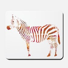The Colorful Zebra Mousepad