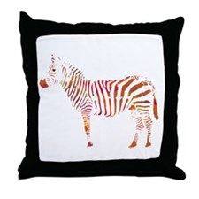 The Colorful Zebra Throw Pillow