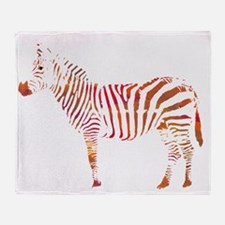 The Colorful Zebra Throw Blanket