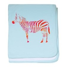 The Colorful Zebra baby blanket
