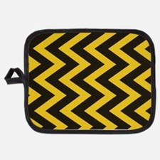 Yellow and Black Jig Jag Potholder