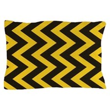 Yellow and Black Jig Jag Pillow Case
