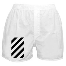 Black and White Diagonal Striped Boxer Shorts