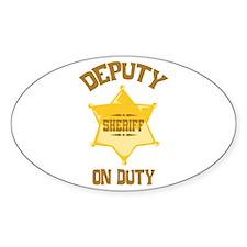Deputy Sheriff On Duty Decal
