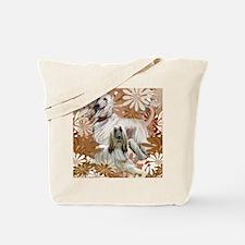 Afghan Hound Floral Tote Bag