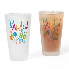 80th Birthday Party Drinking Glass