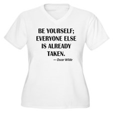 Be Yourself... Oscar Wilde Quote Plus Size T-Shirt