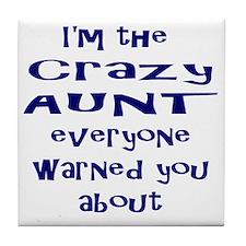 Crazy Aunt Tile Coaster