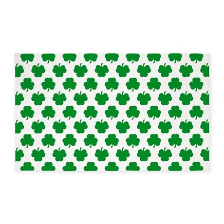 'Irish Shamrocks' 3'x5' Area Rug