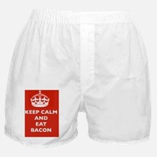 Keep Calm and Eat Bacon Boxer Shorts
