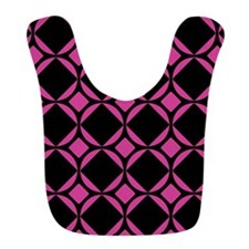 Mod Diamonds Pattern Hot Pink Bib