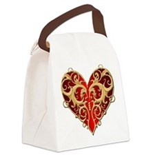 Valentine Heart Canvas Lunch Bag