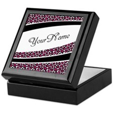 Pink Leopard Personalized Keepsake Box
