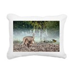 Mother Deer Rectangular Canvas Pillow