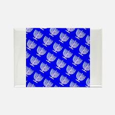 Blue Menorahs Hanukkah Mensch 4Josh Magnets