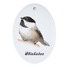 Chickadee Oval Ornament