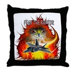 Fear The Raptor Throw Pillow
