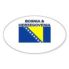 Bosnia & Herzegovina Oval Decal