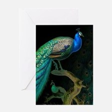 Vintage Peacock Greeting Card