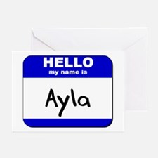 hello my name is ayla  Greeting Cards (Package of