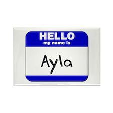 hello my name is ayla Rectangle Magnet