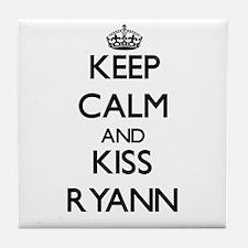 Keep Calm and kiss Ryann Tile Coaster