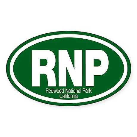 Redwood National Park Oval Sticker