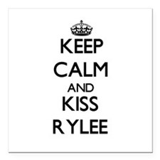 "Keep Calm and kiss Rylee Square Car Magnet 3"" x 3"""