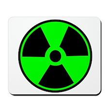 Green Round Radioactive Mousepad