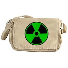 Green Round Radioactive Messenger Bag