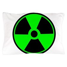 Green Round Radioactive Pillow Case