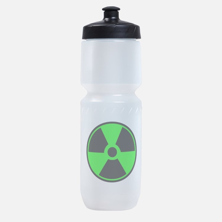 Green Round Radioactive Sports Bottle