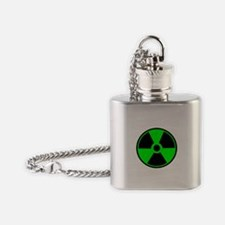 Green Round Radioactive Flask Necklace
