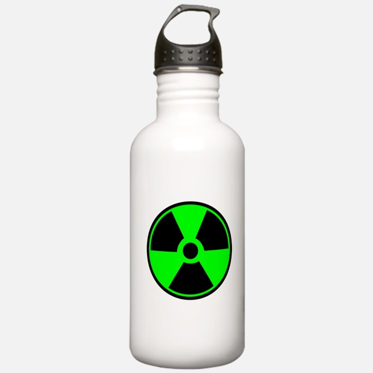 Green Round Radioactive Sports Water Bottle