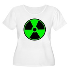 Green Round Radioactive Plus Size T-Shirt