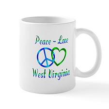 Peace Love West Virginia Mug