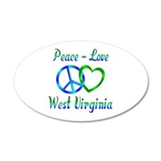 Peace Love West Virginia Wall Decal