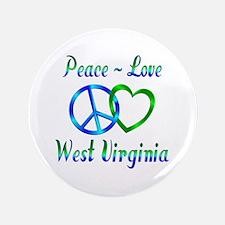"""Peace Love West Virginia 3.5"""" Button"""