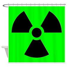 Green Radioactive Sign Shower Curtain